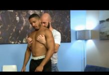 Hot gay guys kissing at the doctor's office