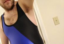 My new singlet has me black and blue all over