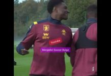 Wesley Moraes shows his big bulge to his team mate | Aston Villa F.C. | Soccer Bulge