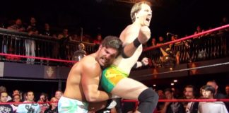 Johnny Cockstrong uses his penis to win test of strength over Joey Ryan at Beyond Wrestling!