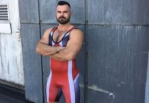 Past video for a sports night at a UK club ... nice singlet