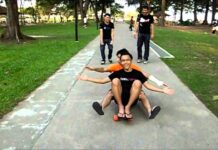 2 person on 1 long board? Damn gay sexual position?!