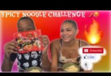 SPICY NOODLE CHALLENGE!!!!(HE ATE IT ALL)
